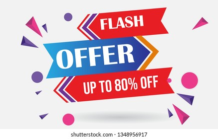Flash Offer Design for business for business. Discount Banner Promotion Template