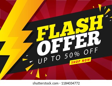flash offer sale banner