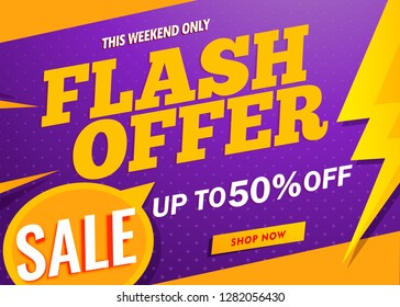 flash offer sale banner template