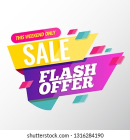 Flash offer sale banner template modern design.