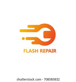 Flash Repair Logo Template Design