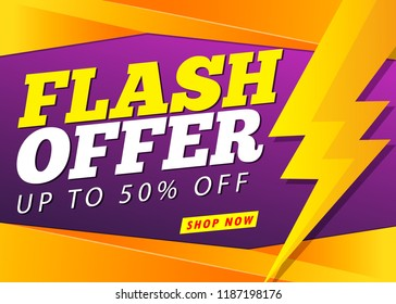 flash sale banner template