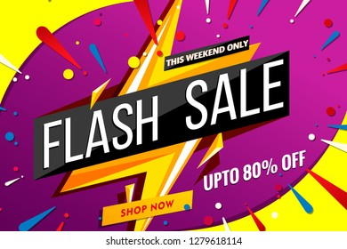 flash sale banner template.