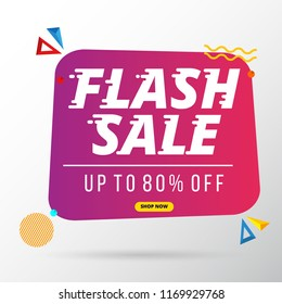 flash sale banner template design