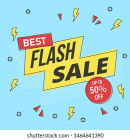 Flash Sale banner template design. EPS 10.