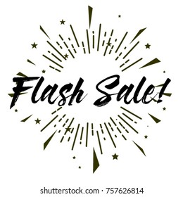 Flash Sale, Beautiful greeting card poster with calligraphy text