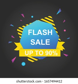 Flash sale discount banner template promotion