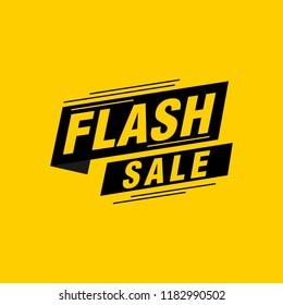Flash sale labels banners