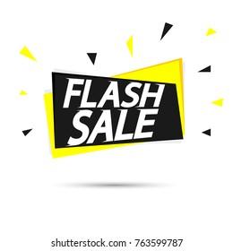 Flash Sale tag, banner design template, app icon, vector illustration