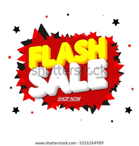 flash sale tag design template app stock vector royalty free
