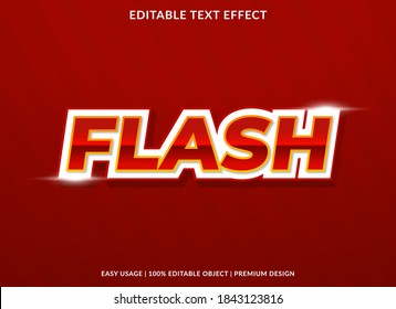 flash sale  text effect template with bold hi tech style use for  promotion sticker and brand