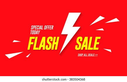 Flash sale. Vector banner