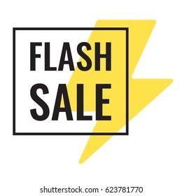 Flash sale. Vector flat illustration on white background.