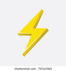 Flash sign thunder yellow. vector