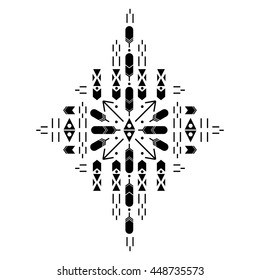 a03c7b652 Flash tattoo. Black decoration. Hand drawn tribal. Vector illustration.  geometry, patterns