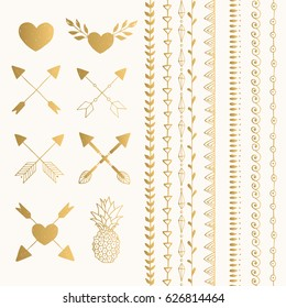 Flash tattoo designs. vector. Isolated.