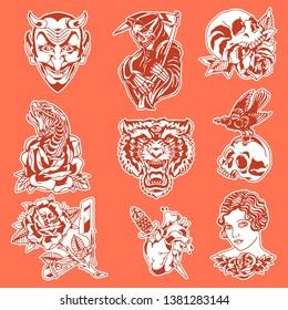 Flash Tattoos Illustration Vector Pack