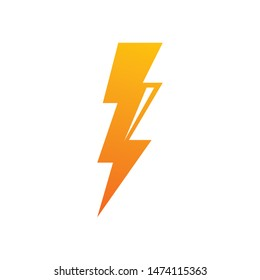 flash thunder bolt illustration vector template