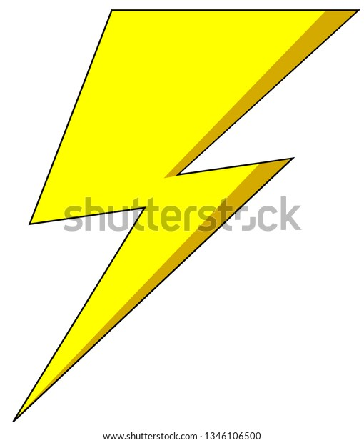 flash thunder vector stock vector royalty free 1346106500 shutterstock