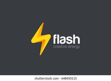 Flash thunderbolt Energy Power Logo design vector template. Electricity Speed Logotype concept icon