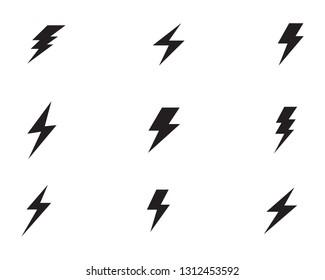 Flash thunderbolt Template vector icon illustration