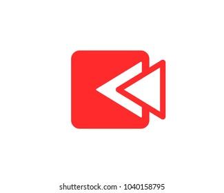 Flashback icon vector