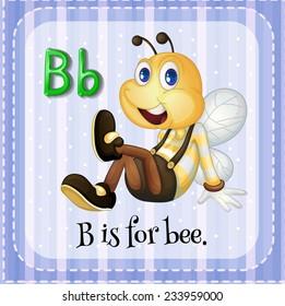 Flashcard of an alphabet B