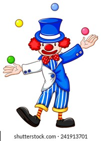 Flashcard of a clown jiggling