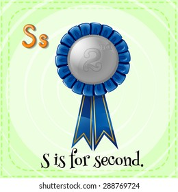 Flashcard letter S is for second