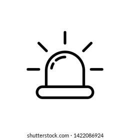 Flasher, Alarm Siren Icon Vector