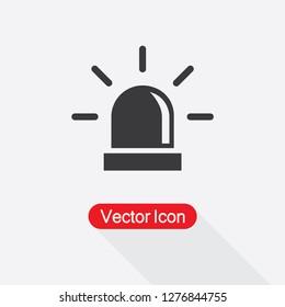 Flasher Icon, Alarm Siren Icon Vector Illustration Eps10