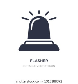 flasher icon on white background. Simple element illustration from Security concept. flasher icon symbol design.