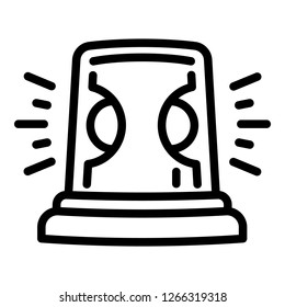 Flasher icon. Outline flasher vector icon for web design isolated on white background