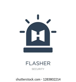 flasher icon vector on white background, flasher trendy filled icons from Security collection, flasher vector illustration