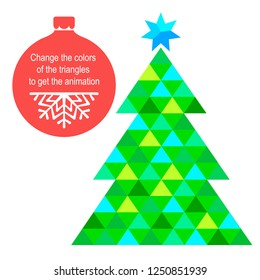 animated christmas tree images stock photos vectors shutterstock