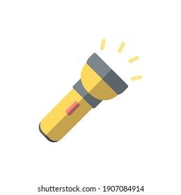 flashlight icon of color style  vector illustration design