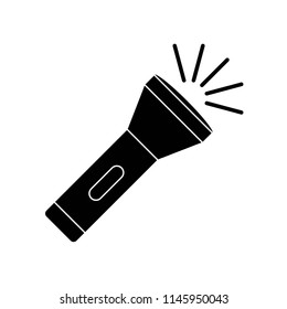 Flashlight icon vector icon. Simple element illustration. Flashlight symbol design. Can be used for web and mobile.