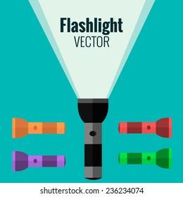 Flashlights vector set