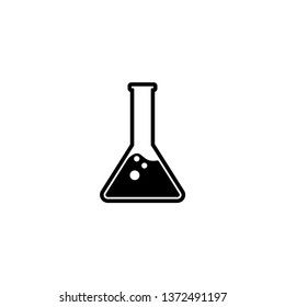 Flask Erlenmeyer Lab Icon Vector