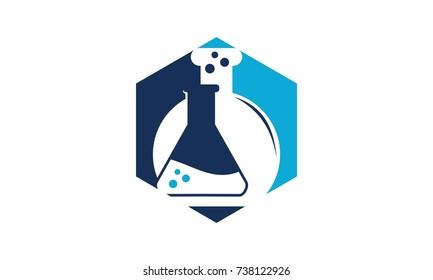 Flask hexagon