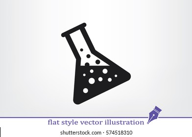 flask icon vector illustration.