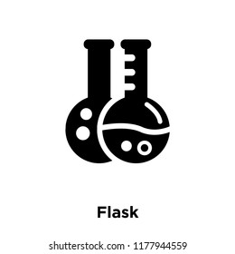 Flask icon vector isolated on white background, logo concept of Flask sign on transparent background, filled black symbol