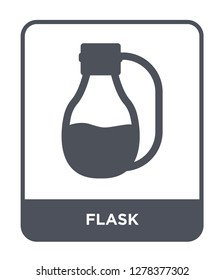 flask icon vector on white background, flask trendy filled icons from Camping collection, flask vector illustration
