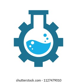 flask logo. laboratory icon. chemical symbol. vector eps 08.