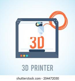 flat 3d printer printering 3d