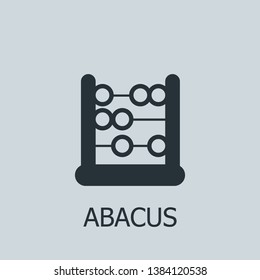 Flat abacus vector icon. Abacus illustration for web, mobile apps, design. Abacus vector symbol.