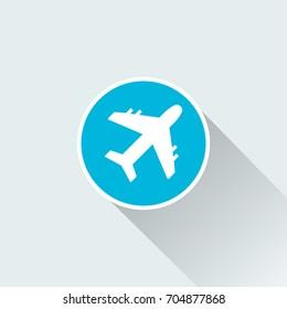 flat Airplane icon