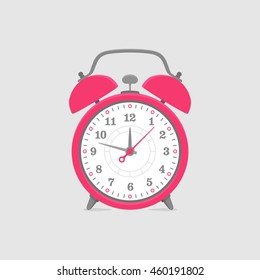 Flat Alarm Clock Vector Illustration