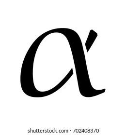 Flat Alpha Symbol.