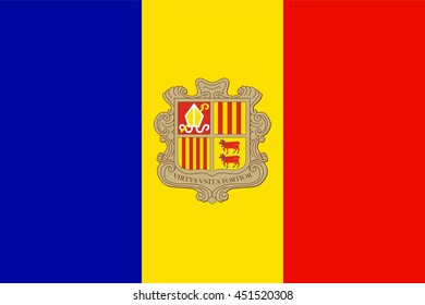 Flat Andorra flag vector background